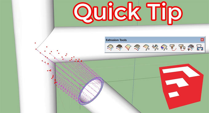 Quick tips to use extrude tools sketchup plugin