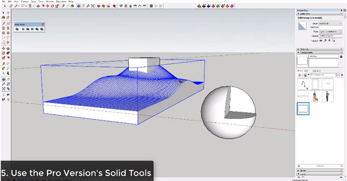 Some useful tips to create cut openings in your sketchup model