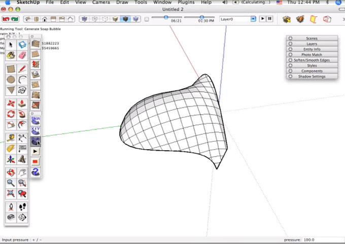 Estofado com sketchup (plugins soap skin bubble e round corner.