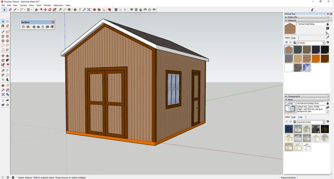 How to apply position texture tool inside sketchup to generate custom textures