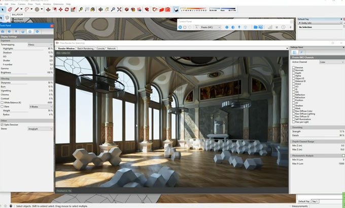 Live demonstration of Thea Render 2.0 for sketchup