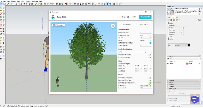 Demo of transmutr, a brand new sketchup extension