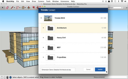 Trimble Connect now supports sketchup 2016