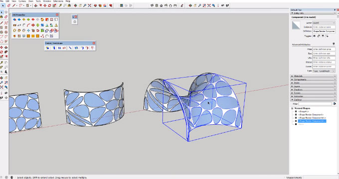 How to start modeling with Voronoi Patterns in Sketchup
