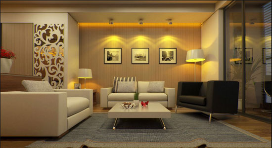 Apply V Ray Amp Sketchup For Interior Rendering Of A Living Room