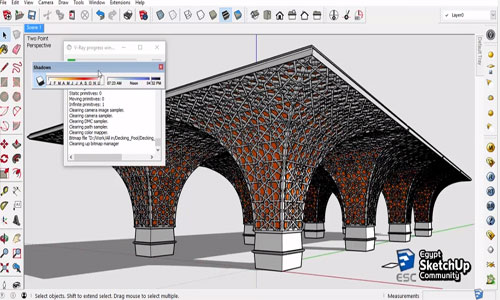 Sketchup Pro 2016 for modeling and rendering