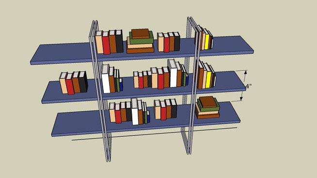 Bookshelf with Books