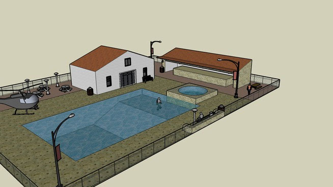 Free DownloadSketchUp Components 3D Warehouse - Pool ... on Sketchup Backyard id=14730