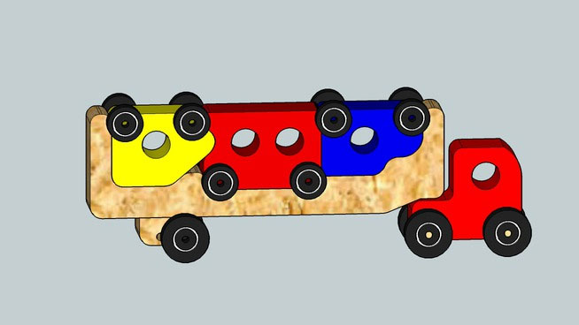 Puzzle truck Toy