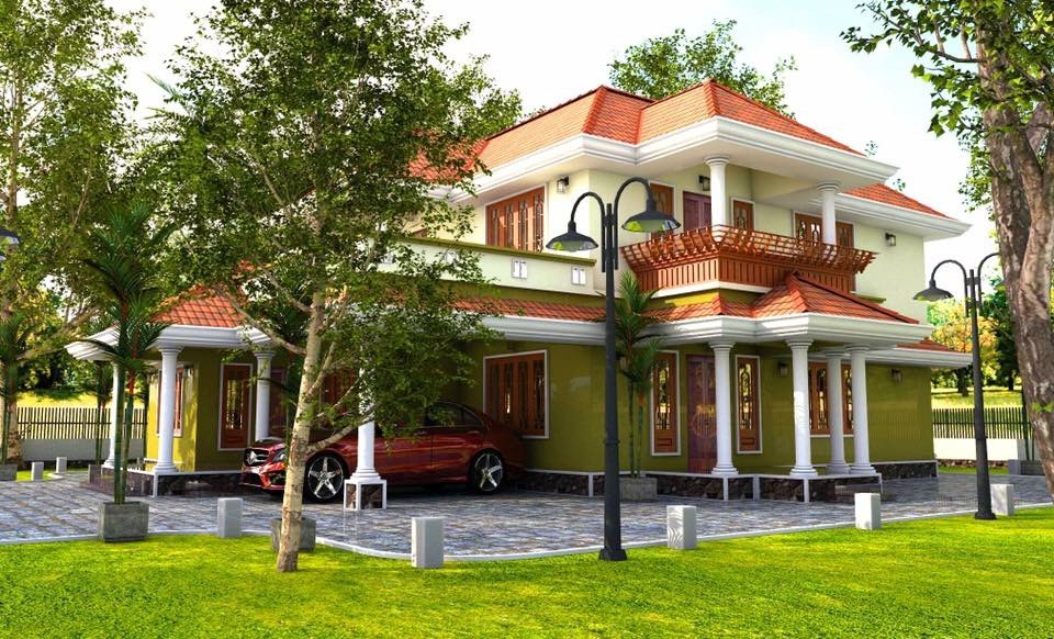 Free 3D Models HOUSES VILLAS TYPICAL KERALA HOUSE
