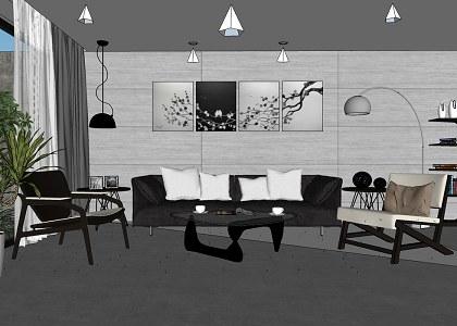 sketchup living room | www.lightneasy.net