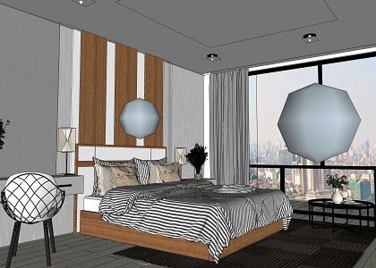Free 3D Models - BEDROOM - MASTER BEDROOM - by taedsak ... on Model Bedroom Design  id=11179