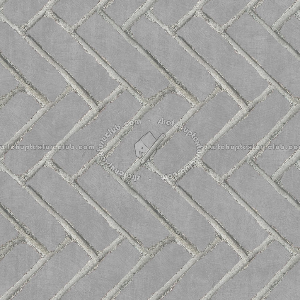 Concrete Paving Herringbone Outdoor Texture Seamless