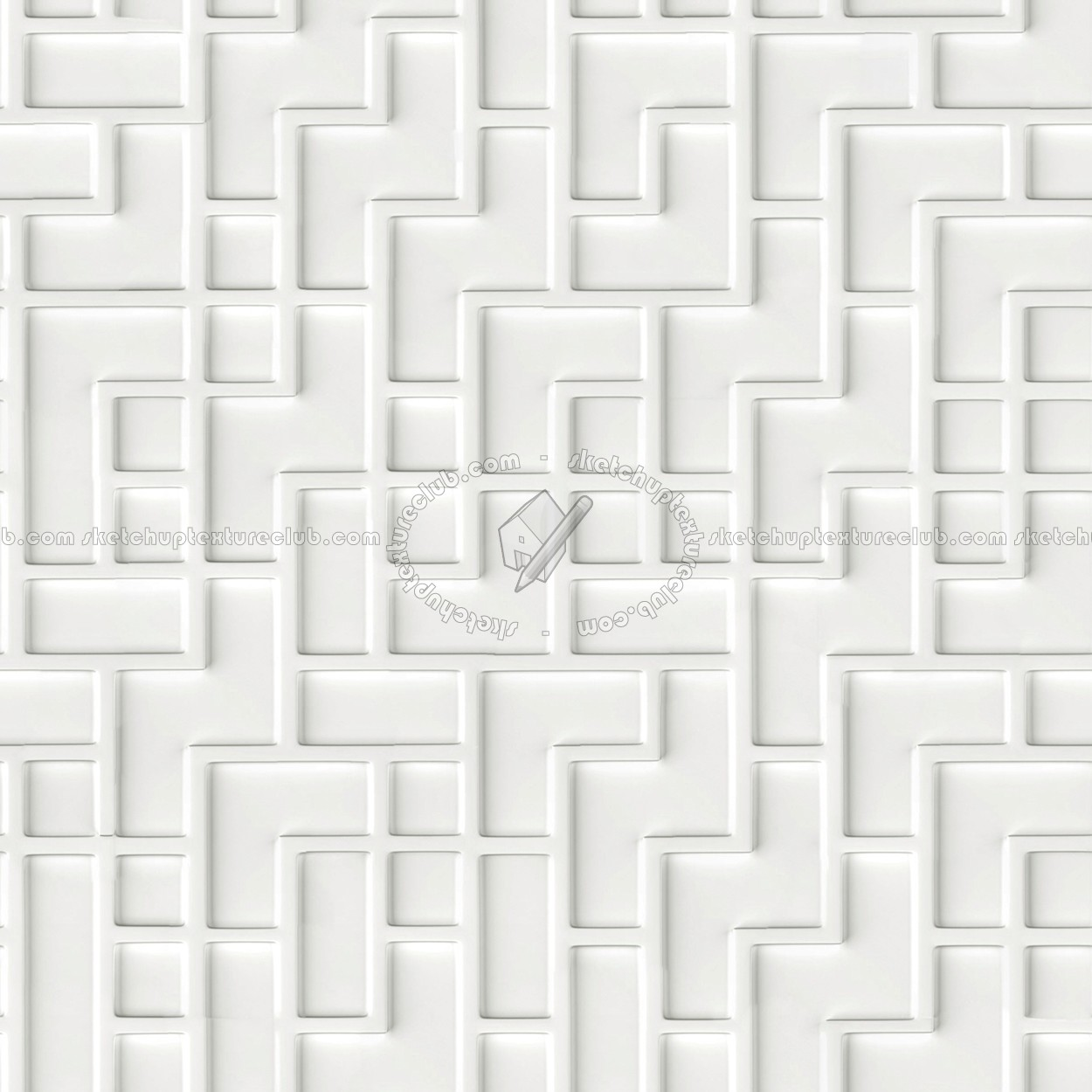 White Interior 3d Wall Panel Texture Seamless