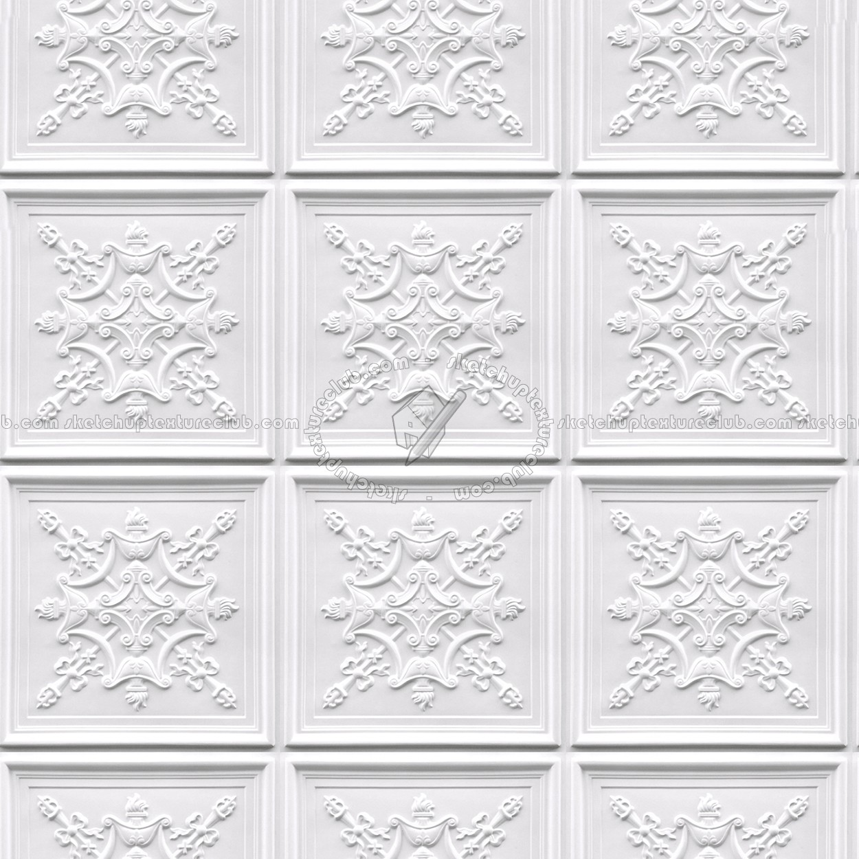 Interior Decorative 3d Wall White Panels Textures Seamless