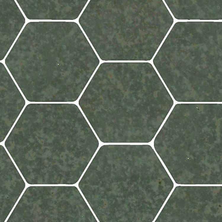 hexagonal green marble tile texture
