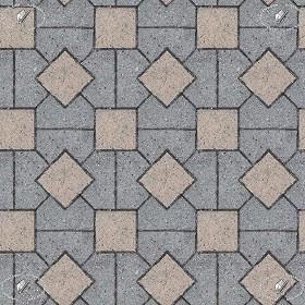 Concrete Mixed Blocks Outdoor Flooring Textures Seamless