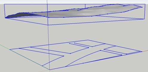 Using Imported Civil DWG Parking Layouts to Drape onto a Sandbox