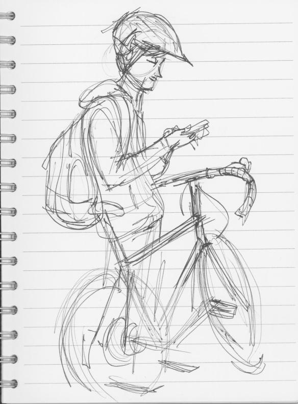 Guy with Bike 1