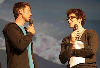 Cyril sur scène avec Seb Montaz Rosset
