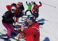 cervinia ski school group lesson