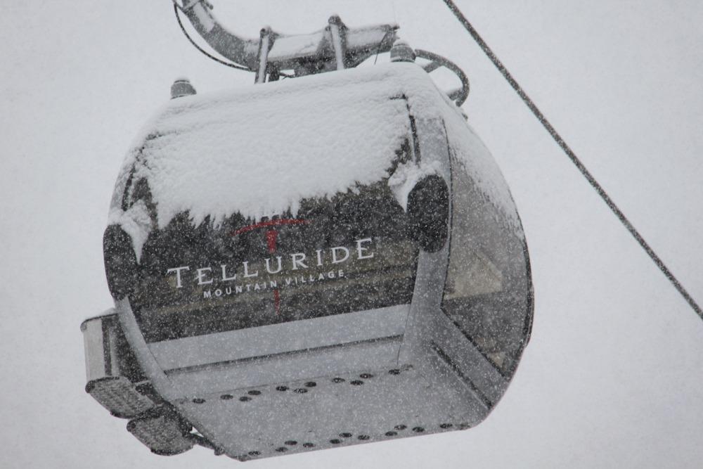Telluride gondola, Telluride snow, Telluride snow storm