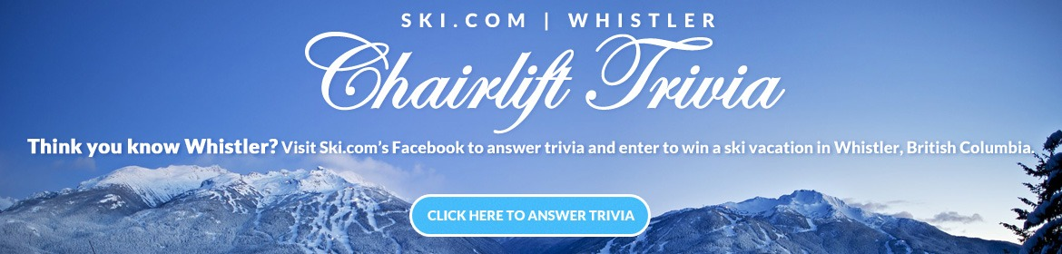 Whistler trip giveaway