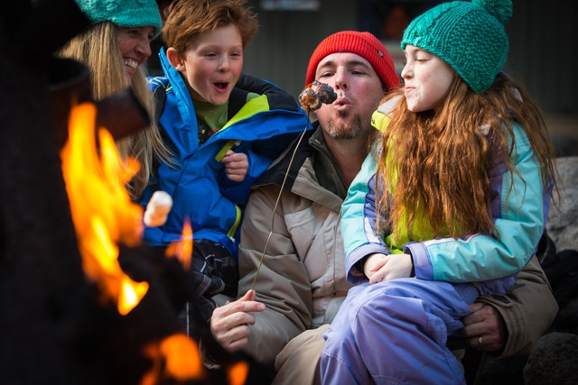 Roasting marshmallows at Squaw by Jeff Curtes