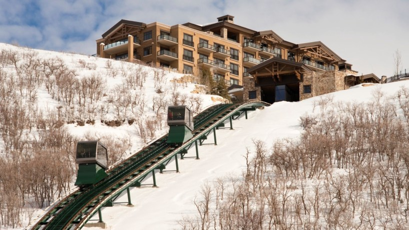 Funicular at St. Regis Deer Valley Resort