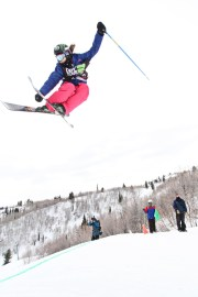 Devin Logan, of Mt. Snow, at the 2012 Dew Tour Snowbasin Snowboard Slopestyle Semi-Final Photo: Sarah Brunson/U.S. Snowboarding
