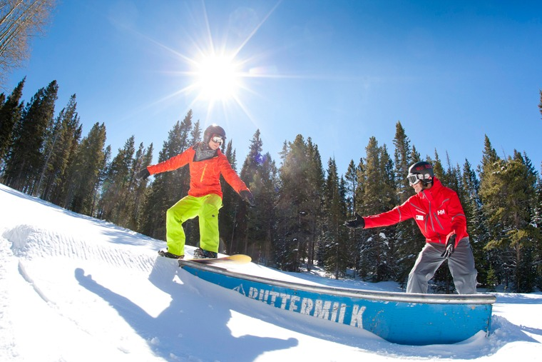 Snowboard rail lesson Buttermilk