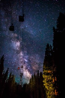 Snowmass gondola at night