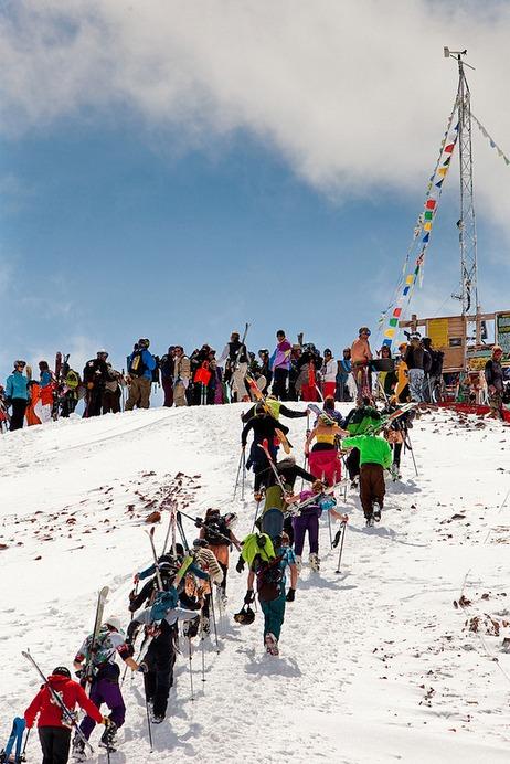 Closing Day atop Aspen Highland Bowl