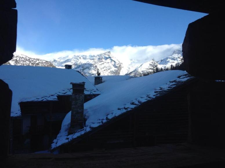 The views from our room at Champoluc's Mascognaz.