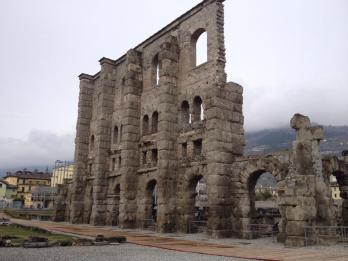 The remains of a Roman theater.