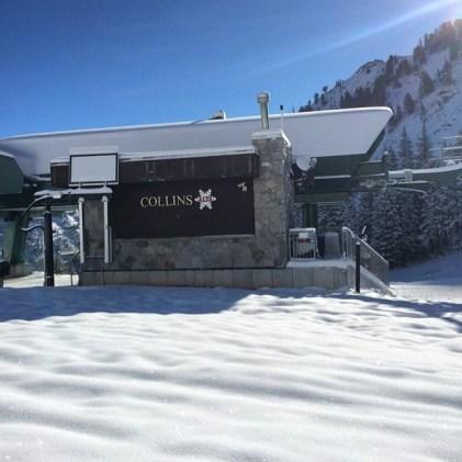 Alta ski area June powder