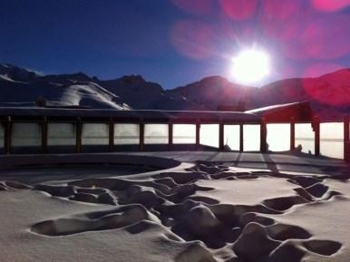 Valle Nevado El Nino snow