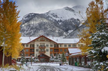 Copper Mountain village snow