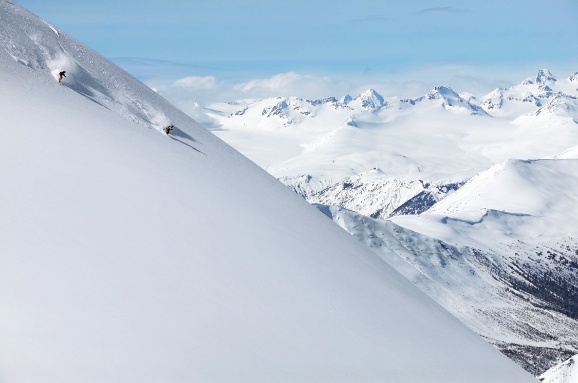 British Columbia boasts four ski resorts that rank among North America's top vertical descents. pc: Destination BC