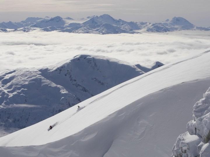 Backcountry skiing, Whistler, British Columbia, Canada.