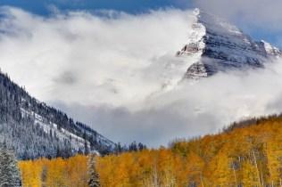 Aspen snow October
