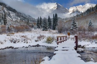 Maroon Creek bridge Aspen