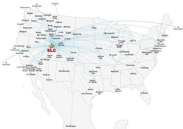 SLC airlines, SLC destinations, Salt Lake City International Airport destinations, Salt Lake City International Airport airlines