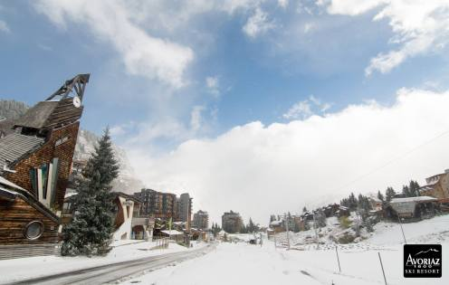 Avoriaz as the clouds cleared on Oct. 22