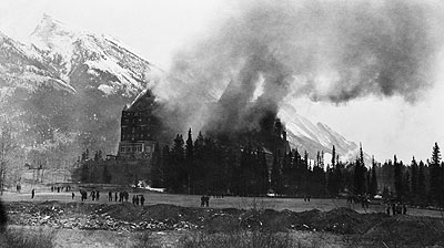 Banff springs fire