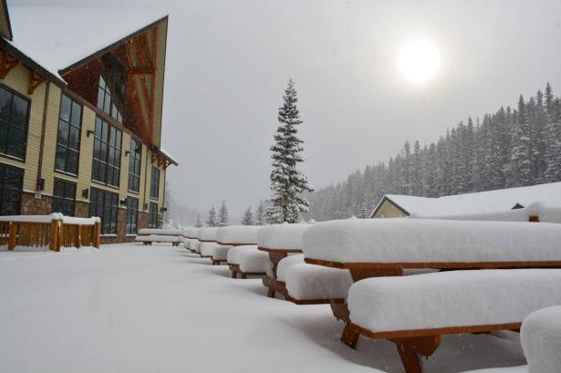 """Banff's Mt. Norquay received about 8"""" of snow."""