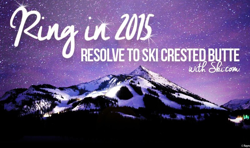 Resolve to ski Crested Butte