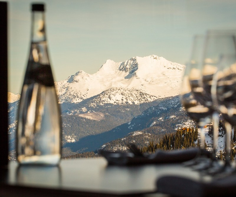 fine dining Whistler, on mountain dining Whistler