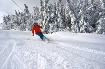 Going with the (powder) flow at Sunday River today | Photo: Sunday River, Dec. 12, 2014