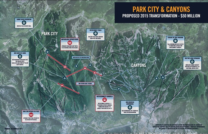 Park City and Canyons linked, Park City Canyons gondola,